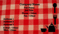 Checkered Tablecloth Business Card Template